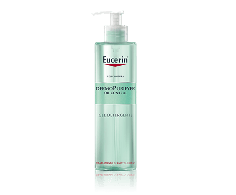 Gel detergente viso per l'acne