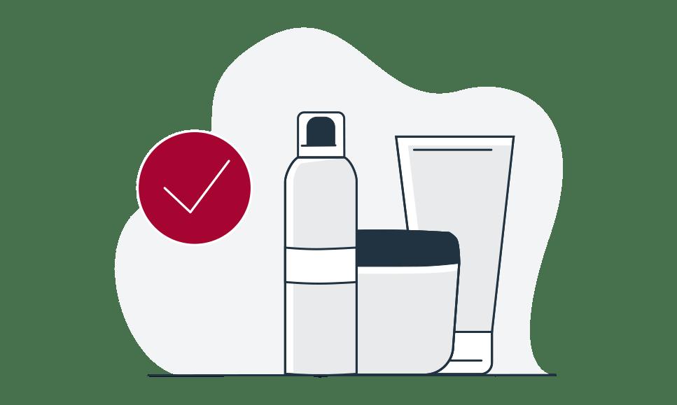 Illustratie van Eucerin producten