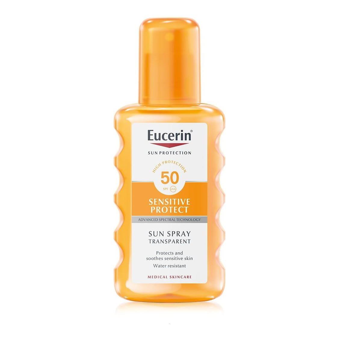 Eucerin Sun Spray Transparent Sensitive Protect SPF50