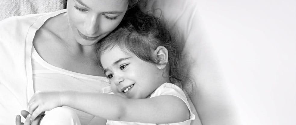 Moeder met haar kind.