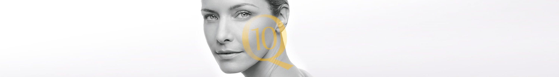 Mujer con piel facial sensible