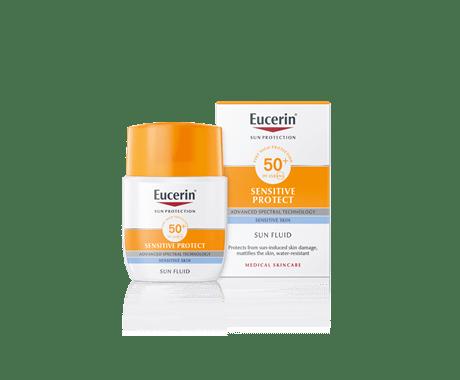 Eucerin Sun matirni fluid za zaščito obraza pred soncem ZF 50+