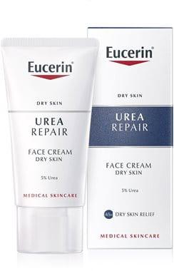 Eucerin krema za gladko kožo obraza 5 % urea za suho do zelo suho kožo