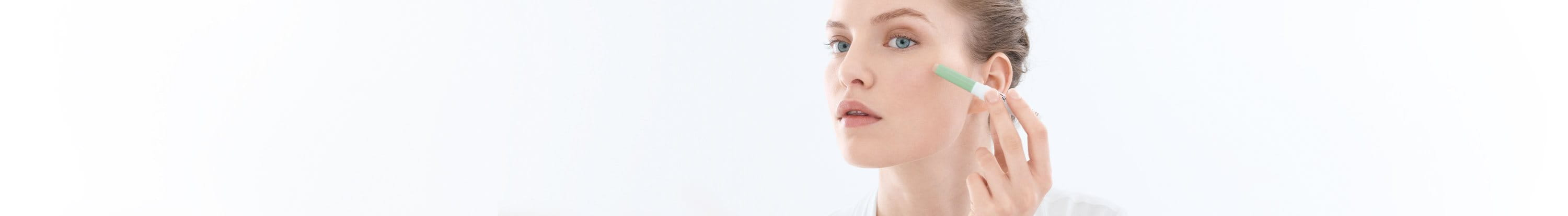 Girl with blemish-prone skin