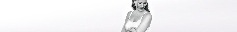 Vrouw met atopische huid