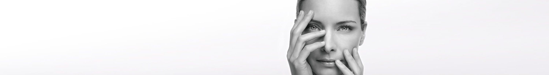 Kvinna med känslig hud