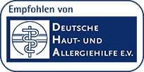 Empfohlen von Deutsche Haut- und Allergiehilfe e.V.