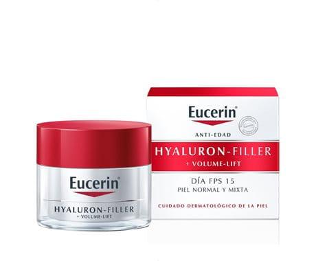 Eucerin Volume-Filler Crema de Día para piel normal o mixta.