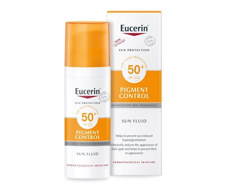 Sunscreen against sun spots from Eucerin