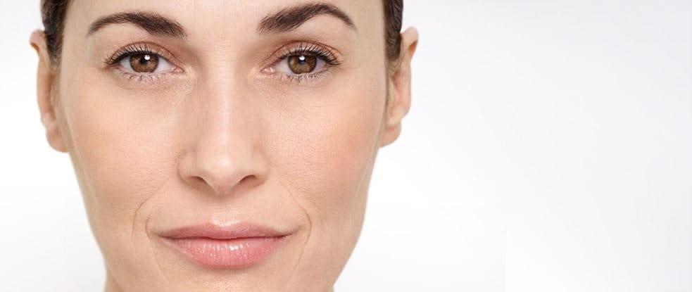 Povečava ženskega obraza